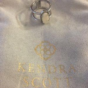 Kendra Scott Silver & White Elyse Drusy Ring Sz 7